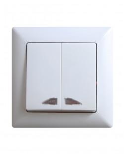 Intrerupator dublu cu led VS2811104
