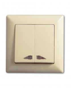 Intrerupator dublu cu led  VS2812104