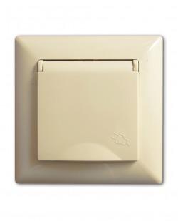Priza cu impamintare si capac prot.copii VS281213