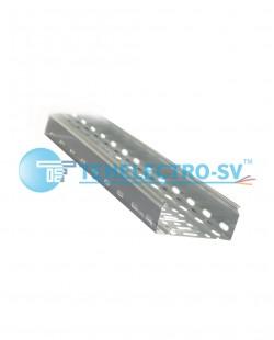 Jgheab metalic perforat 50x50x3000mm