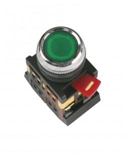Buton cu semn.neon ABLFS22 220V 1nd+1ni (verde)