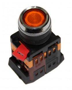 Buton cu semn.neon ABLFS22 220V 1nd+1ni (galben)