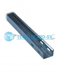 Jgheab metalic neperforat 100x60x3000mm