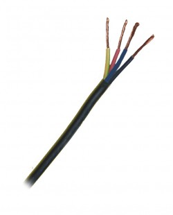 Fir electric ПВС 4x1.0 (negru)