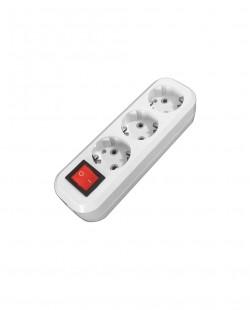 Priza bloc PRO 103B 3prize+buton 2P+E 16A/250V