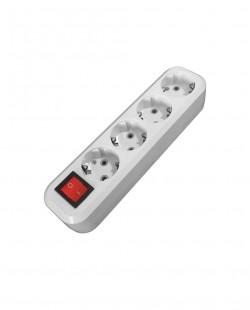 Priza bloc PRO 104B 4prize+buton 2P+E 16A/250V