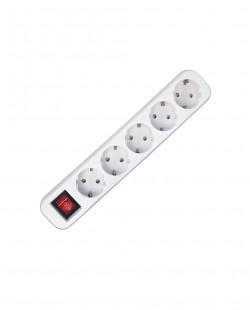 Priza bloc PRO 105B 5prize+buton 2P+E 16A/250V