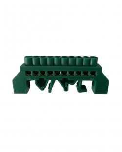 Bara de nul 0609-08VE 6x9mm 10 gauri (verde)