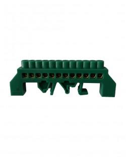 Bara de nul 0609-08VE 6x9mm 12 gauri (verde)