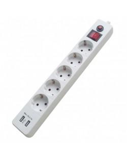 Priza bloc XN-EU05AK USB 5prize 2P+E 16A/250V