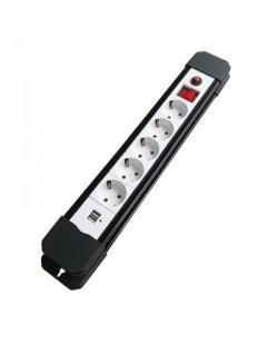 Priza bloc XH-EUA05K 5prize USB 2P+E 16A/250V