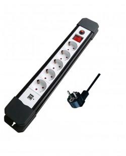 Prelungitor cu incarcator USB 5prize 2P+E 16A 1,8m