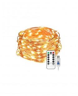 Ghirlanda fir cupru USB Telecomanda 10 m 100 led