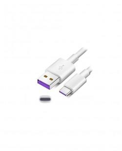 Cablu USB de incarcare Type-C 1,5m 3A alb